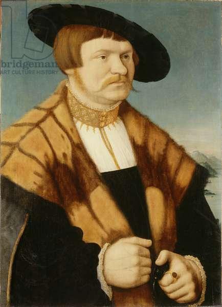Portrait of Frankfurtian Patrician Hans Bromm, 1535 (oil on panel)