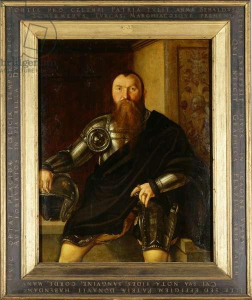 Portrait of Nuremberger Field Marshal Sebald Schirmer, 1545 (oil on panel)