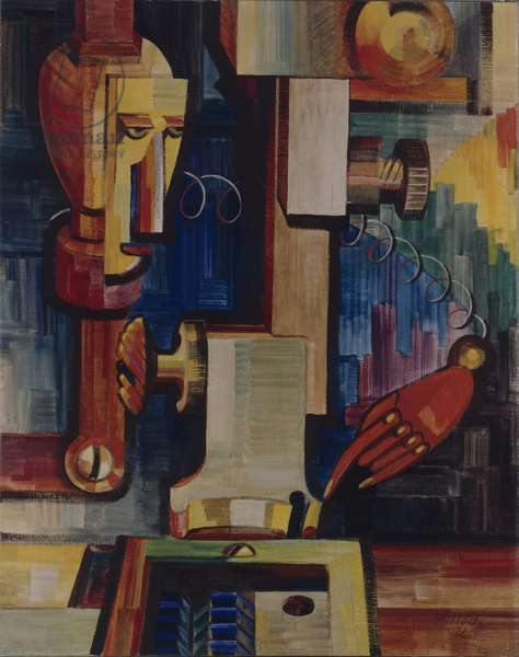 Men and Machines, 1921 (oil on canvas)