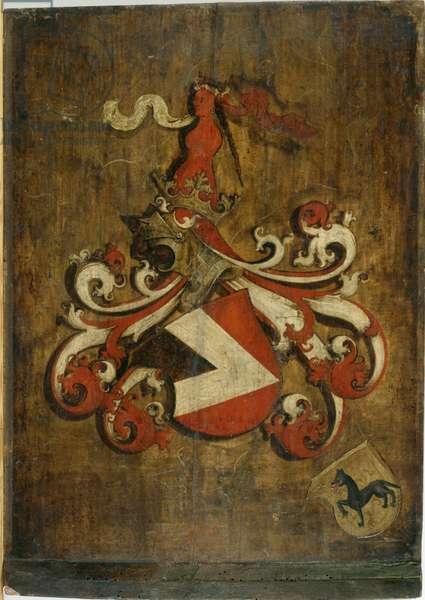 Sliding Lid for the Portrait of Hieronymus II. Haller zu Kalchreuth, 1503 (oil on spruce wood)