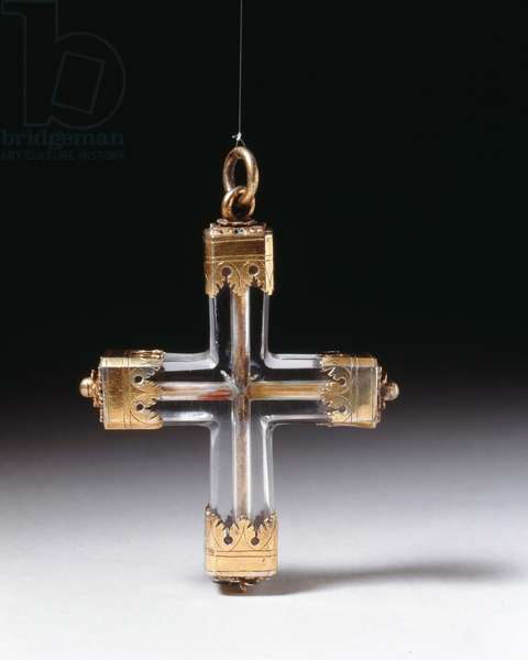 Cross (rock crystal and silver)