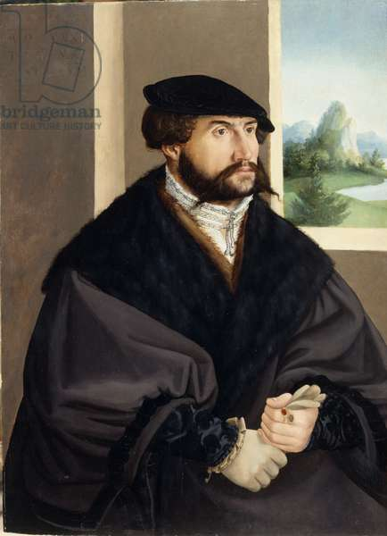 Portrait of a man in his thirties, possibly Andreas Hertwig, 1541 (oil on panel)