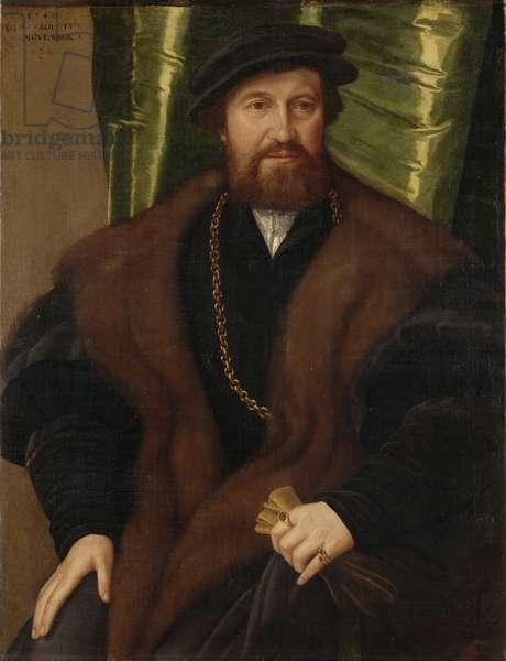 Portrait of a Gentleman (Christoph Pissinger), 1540 (oil on canvas)