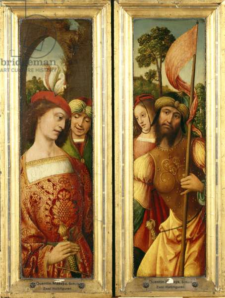 Two Wings of a Triptych, c. 1515-20 (oil on panel)