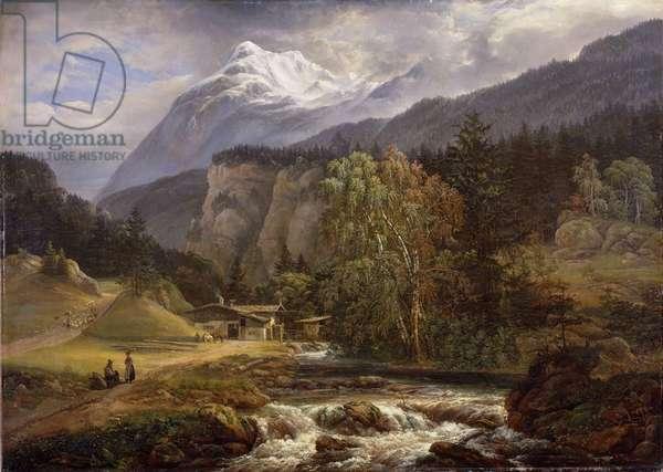 Alpine Landscape, 1821 (oil on canvas)