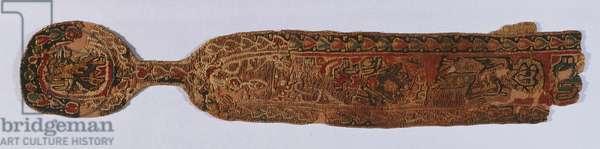 Ornamental strip with medallion (textile)