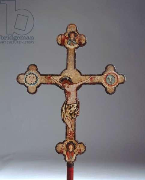 Cross, from Regensburg, c.1310 (painted wood)