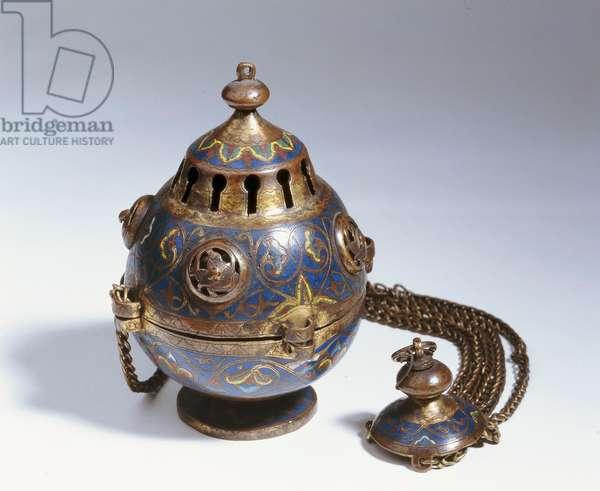 Censer, from Limoges (copper, gilt & enamel)
