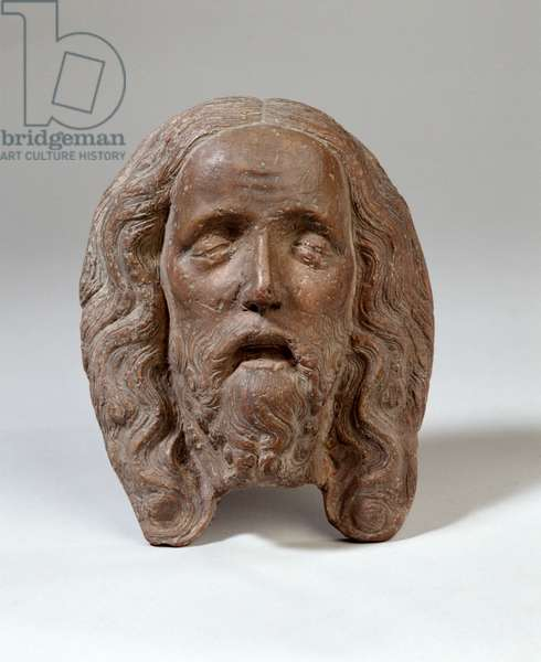 Mask of the dead Christ, from the Mittelrhein region, c.1430 (fired clay)