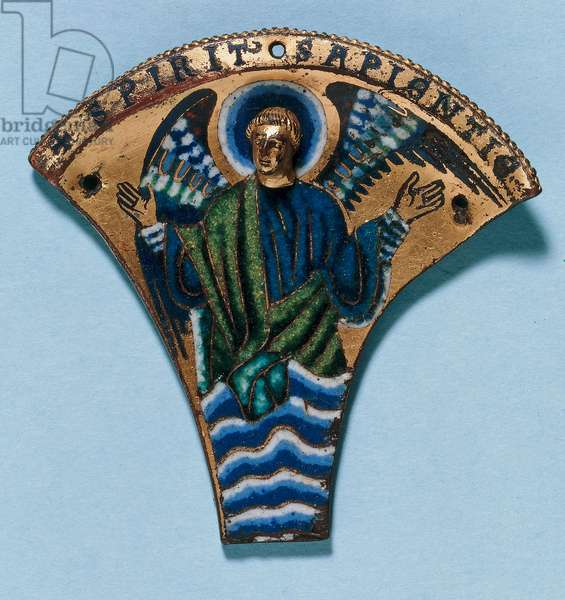 Enamel plate from a reliquary, from the Rhein-Maas area (copper, gilt & enamel)