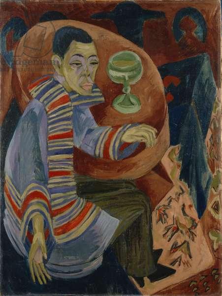 The Drinker (self-portrait), 1914-15 (oil on canvas)