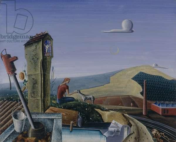 Rural Idyll, 1935 (oil on canvas)