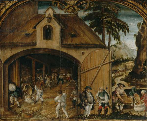 The Month of August, c.1525-26 (oil on panel)