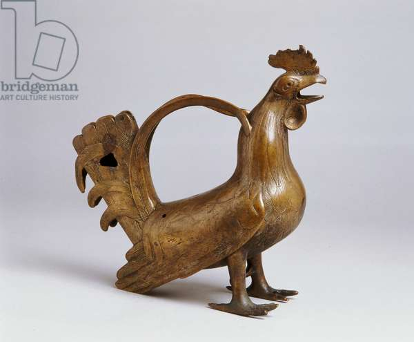 Aquamanile in the form of a cock, c.1300 (bronze)