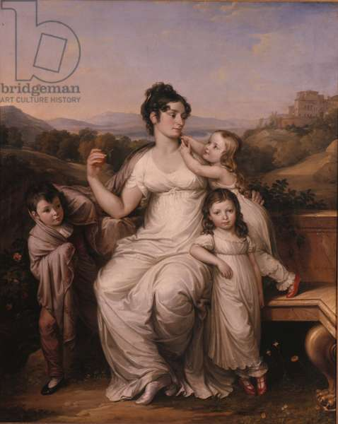 Maria Theresia Josepha Reichsgraefin von Fries with her eldest children, 1811 (oil on canvas)
