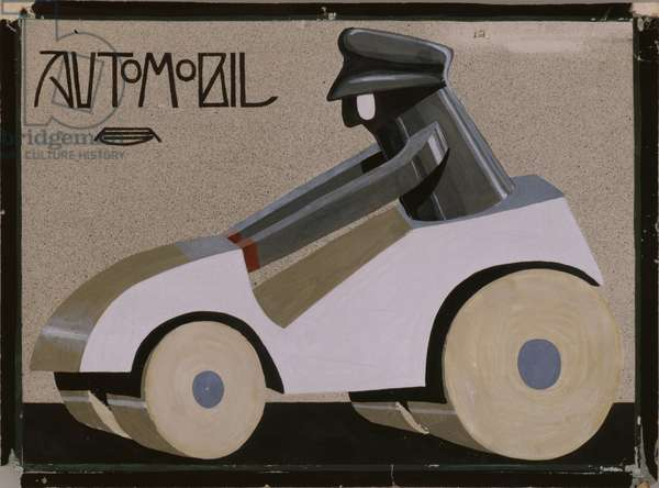 Design for a toy car, produced by Jean Stoettner, Nuremberg, 1903 (bodycolour on paper) (see also 330167)