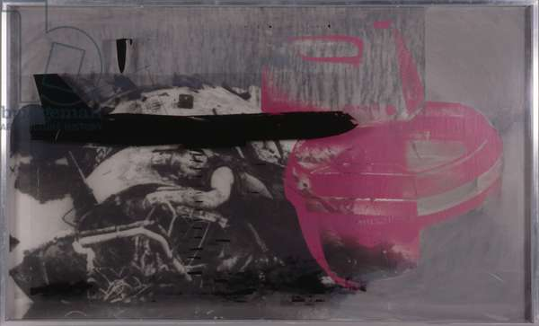 Now the Germans are number one in Europe, 1968 (screenprint on canvas and plexiglass)