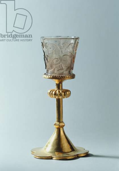 Hedwig Glass, 10th-12th century (glass, copper & gilt)