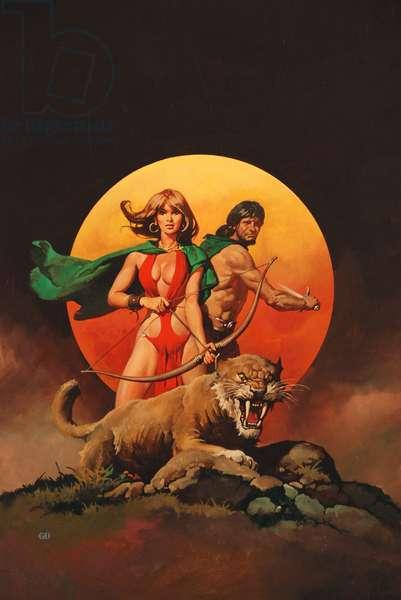 Pursuit of the Screamer, c.1978 (colour litho)