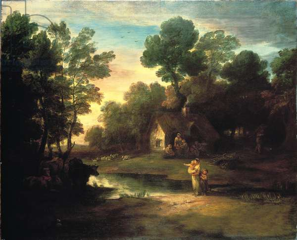 Wooded Landscape with Cattle by a Pool, 1782 (oil on canvas)