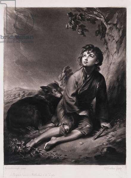 A Shepherd, 1781 (mezzotint)