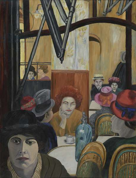 Café Rotonde, Paris, 1924 (oil on canvas)