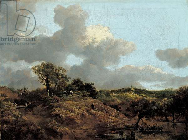 Wooded Landscape with Herdsman Seated, c.1748 (oil on canvas)