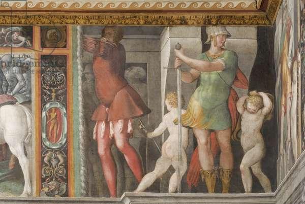 The capture of Perugia, detail (fresco)