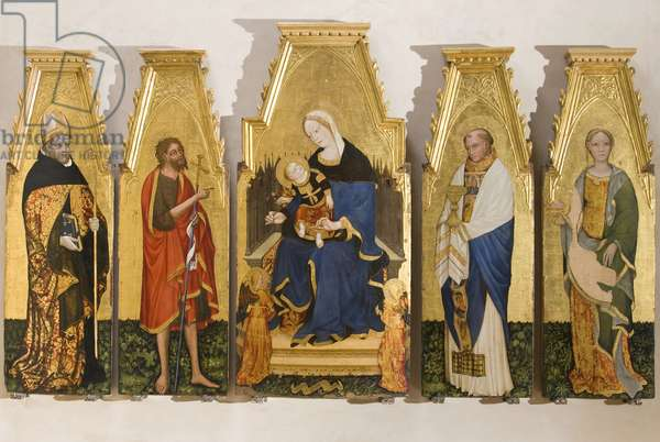 Madonna Enthroned with Child and Angels