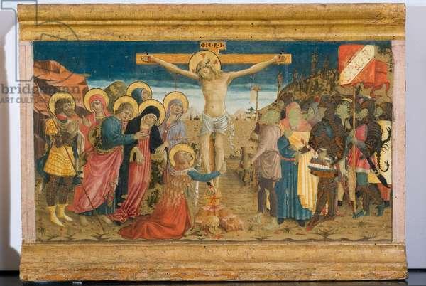 Crucifixion of Jesus Christ, c.1465-1466 (gouache on panel)