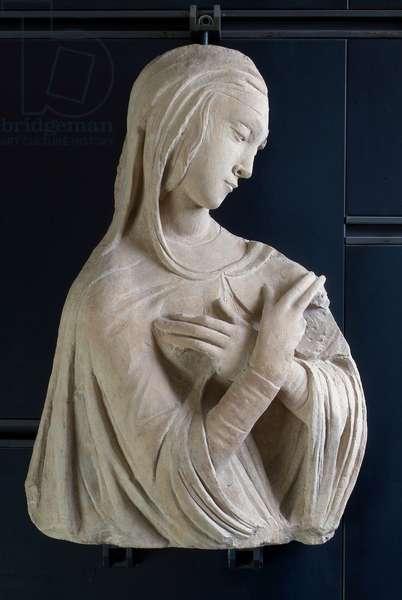 Madonna Announced, c.1450-1481 (carved caciolfa stone)
