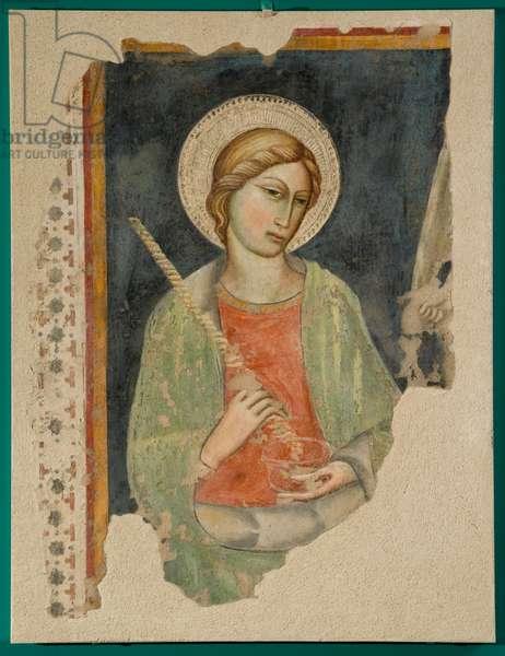 Saint Lucia, c.1400-1420 (staccato fresco)