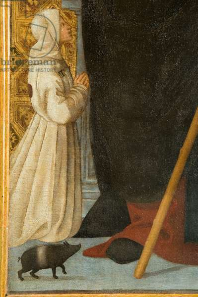 St. Anthony Abbot (detail), 1512 (oil on canvas)