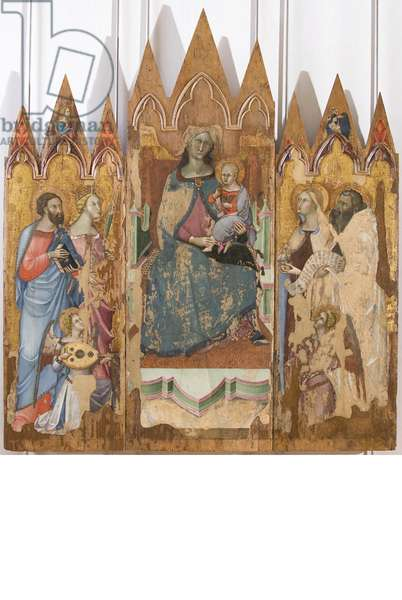 Madonna and Child with saints, 1330-1410 (tempera on panel)