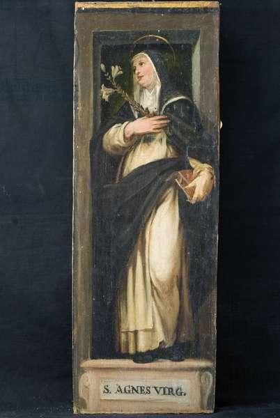 Sant'Agnese da Montepulciano; Baptism of Jesus Christ, c.1600-1610 (oil on board)