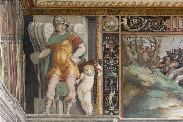Battle of Aquila, detail (fresco)