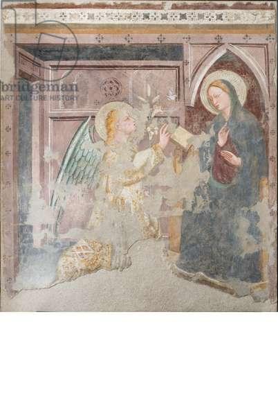 Annunciation, c.1380-1400 (staccato fresco)