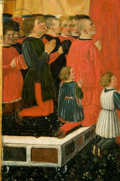 Our Lady of Mercy and two prayer angels, c.1460-1480 (tempera on table)