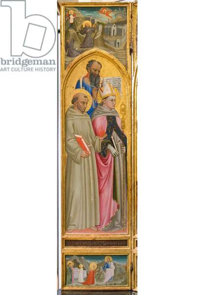 St. Anthony of Padua, St. Ludovico of Toulouse and St. John the Evangelist; Noli me tangere, c.1420-1440 (tempera on panel)