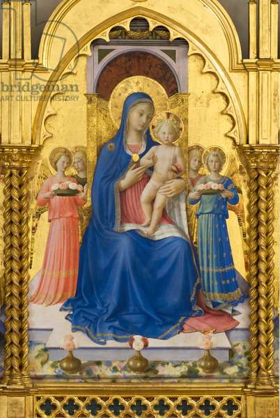 Madonna and Child with Angels, detail, c.1448 (tempera & oil on board)