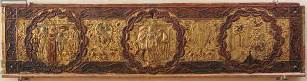 Stories of Alatiel, c.1400-1450 (aspen wood with golden relief and painted pad)