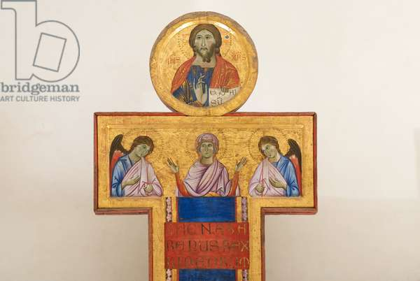 Jesus Christ crucified, Madonna, Saint John the Evangelist, Our Lady and Angels, 1272-1272 (tempera on table)
