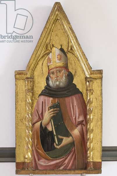 Polyptych of the Sylvestrines (detail) - St. Augustine