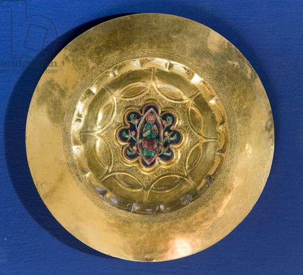 Jesus Christ in Glory; cherubs, c.1298-1304 (gilded silver; enamels)
