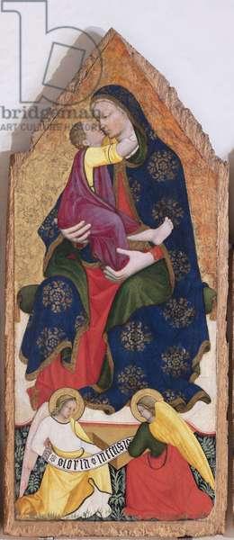 Madonna con Gesù Bambino e due angeli, Trittico del Farneto, c.1420-1430 (tempera on board)