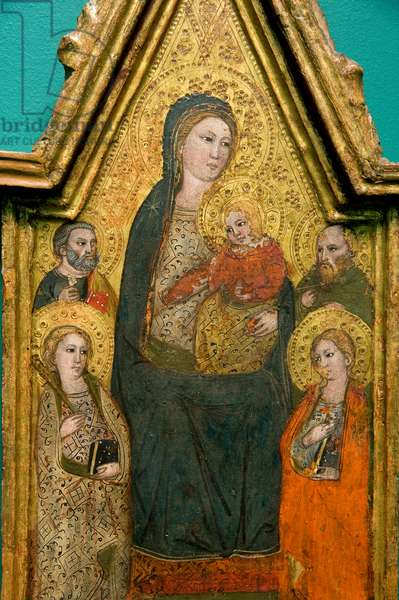 Madonna with Child Jesus and Saints, c.1390-1410 (tempera on table)
