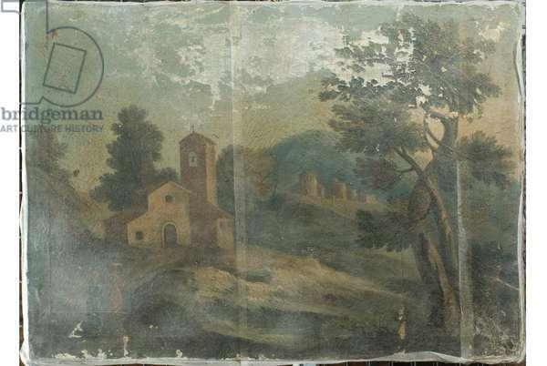 Landscape, c.1650-1699 (oil on canvas)