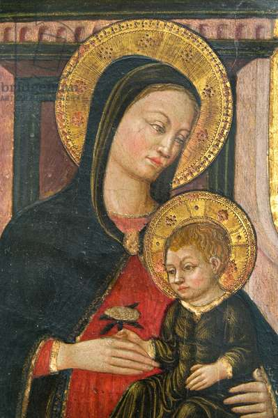 Madonna and Child Jesus Enthroned, c.1460 (tempera on panel)