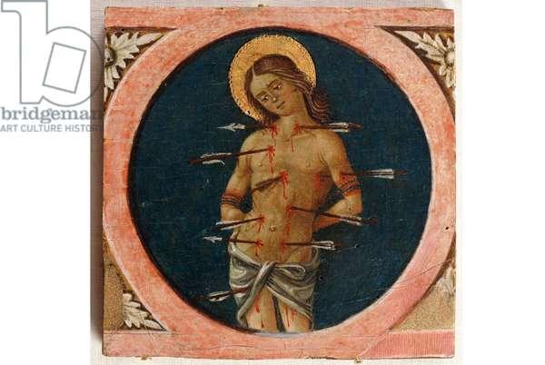 Saint Sebastian. 1480-90 (Table, Tempera painting)