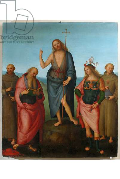 St. John the Baptist and Saints (Table, Tempera painting)